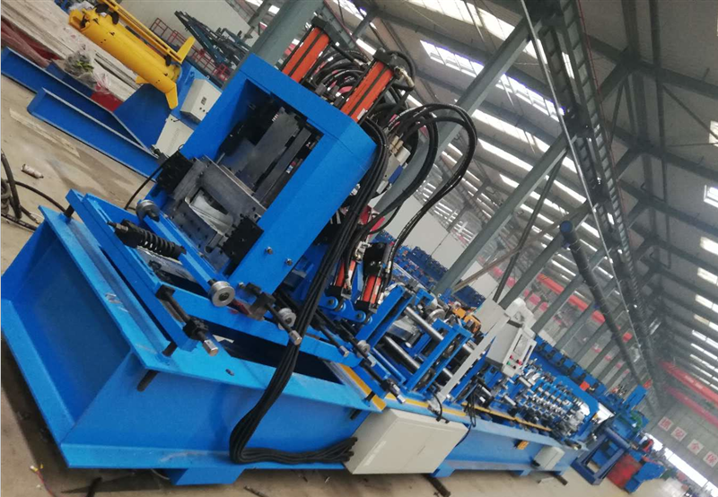 Botou fast changeable steel c purlin roll forming equipment