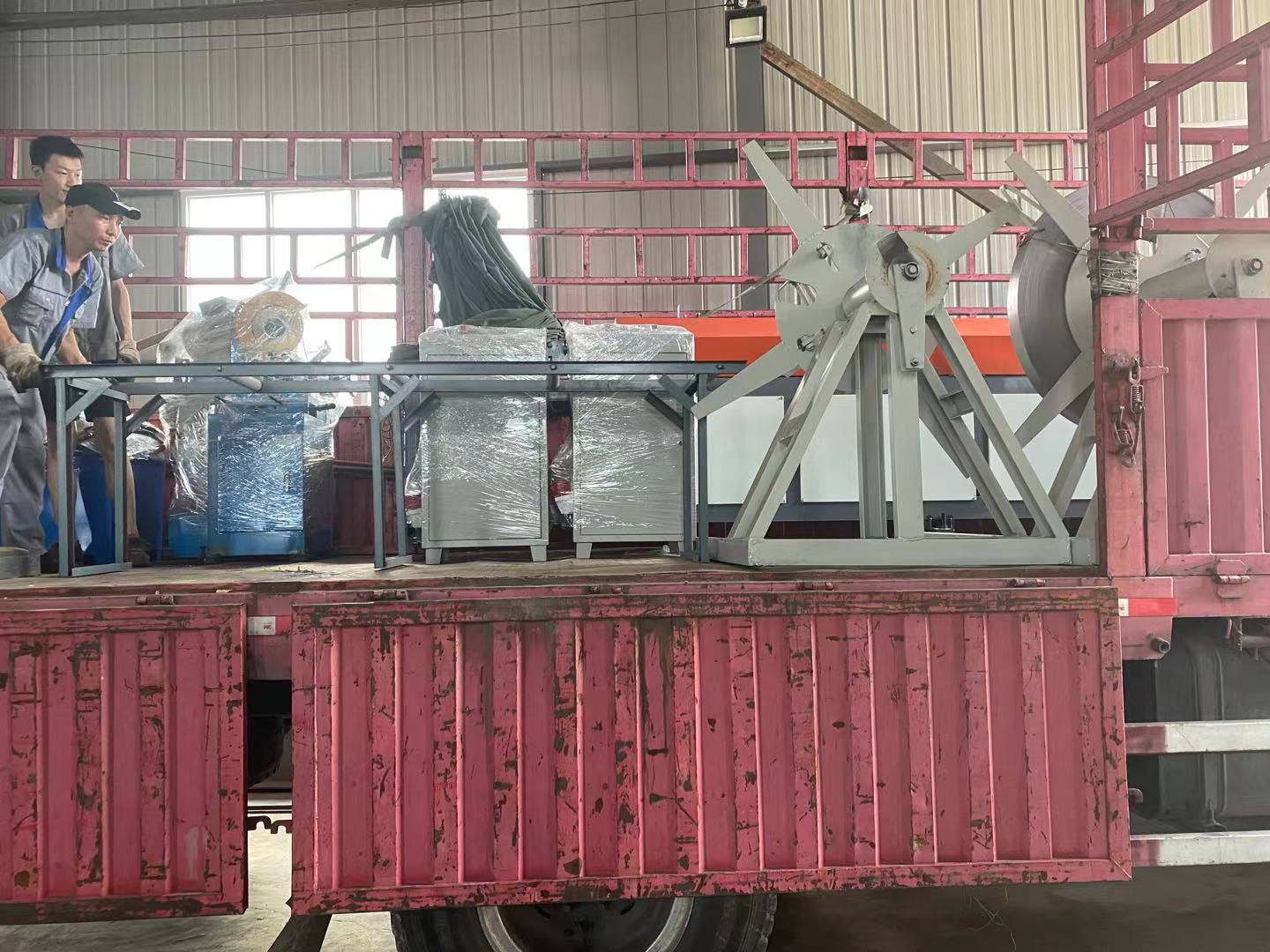 Delivery another 2 set of roll forming machine dated July 9th