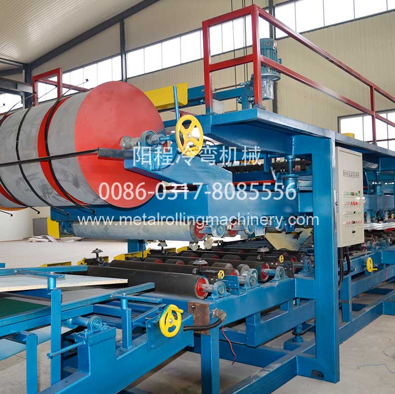 YC EPS&Rock Wool Insulated Sandwich Panel Production Line